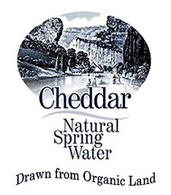 Cheddar Natural Spring Water - drawn from organic land