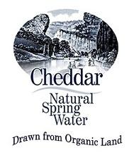 Cheddar Natural Spring Water - drawn from organic land